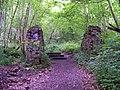 Brick piers for a conveyor belt - geograph.org.uk - 1750693.jpg