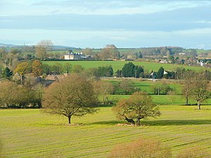 Archenfield - View westwards from Ross-on-Wye towards Bridstow, showing part of the area traditionally known as Archenfield