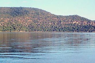 Brisbane Water National Park - Looking towards the national park from Bar Point, across the Hawkesbury River.