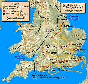 Roman Britain - Conquests under Aulus Plautius, focused on the commercially valuable southeast of Britain.