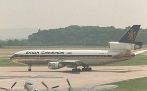 British Caledonian - British Caledonian McDonnell Douglas DC-10-30 at Manchester on schedule to New York JFK in 1987.