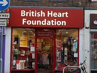British Heart Foundation - British Heart Foundation shop, King Street, Hammersmith