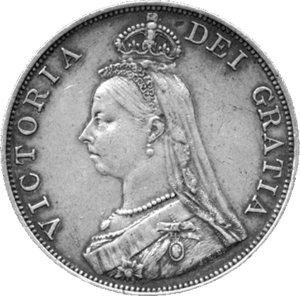 Double florin - Image: British double florin 1887 obverse