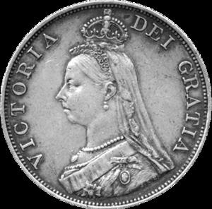 Double florin - Image: British double florin 1887 obverse