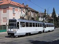 Souprava tramvají Tatra T3R v Brně