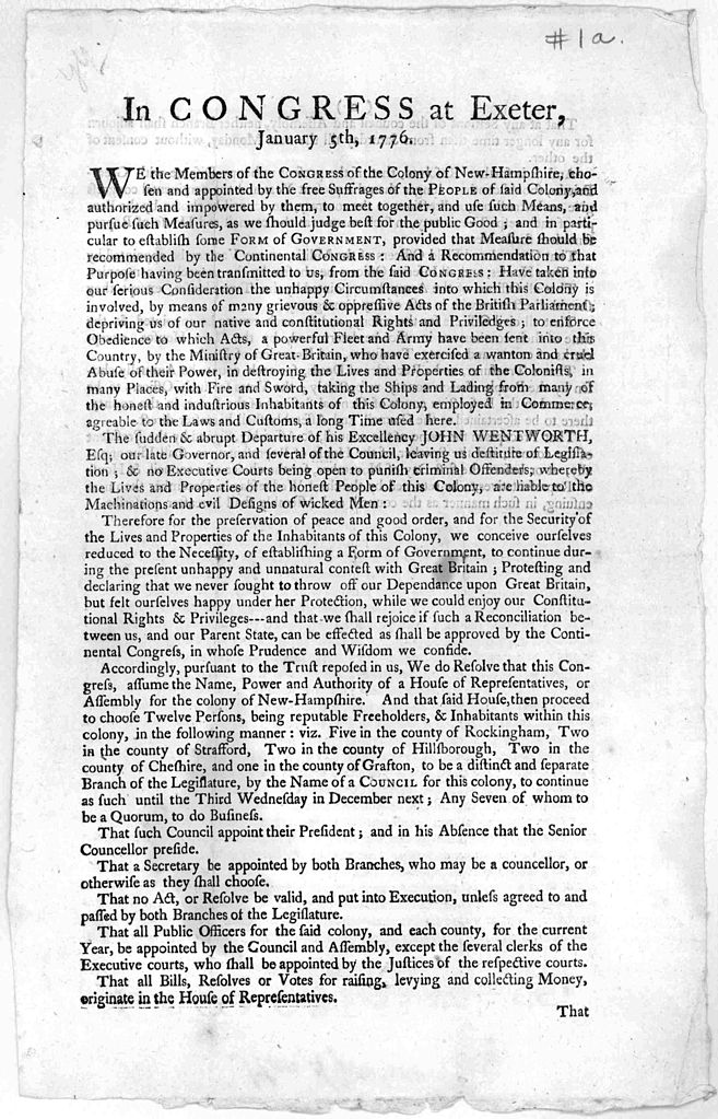 File:Broadside In Congress at Exeter 1776 jpg - Wikipedia