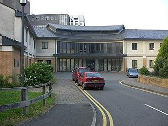 Bronglais Hospital - The entrance to Bronglais Hospital