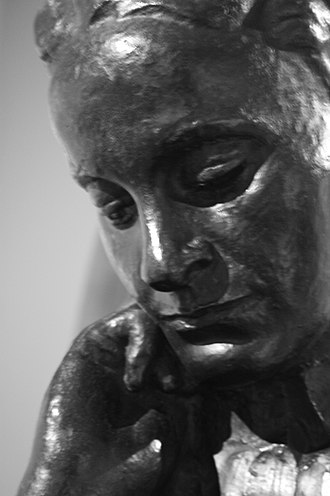 Elsie Inglis - Bronze bust of Elsie Inglis by Ivan Mestrovic 1918, SNPG
