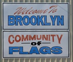 Brooklyn, Iowa - Image: Brooklyn Iowa 20090802 Welcome Sign