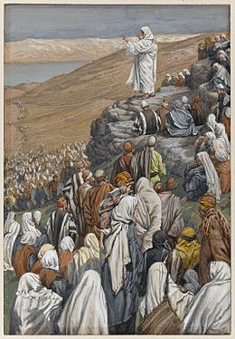 Painting of Jesus delivering the Sermon on the Mount