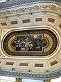 Bucuresti, Romania, Palatul Regal (Muzeul National de Arta al Romaniei - Sala Tronului - Pictura de Cecilia Crutescu Storck pe plafon); B-II-m-A-19856.JPG