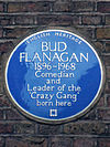 Bud Flanagan 1896-1968 Comedian and Leader of the Crazy Gang born here.jpg
