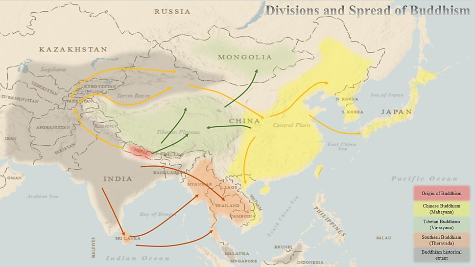 Buddhism Map