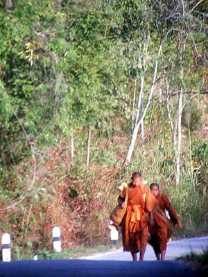 Ajahn Thate - Thai Buddhist forest monks on pilgrimage. 2008.