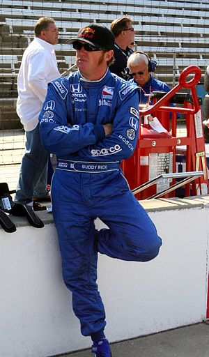 Buddy Rice - Buddy Rice waits for a qualification attempt before the 2007 Indianapolis 500.