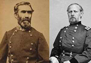 Confederate Heartland Offensive - From left: Confederate General Braxton Bragg and Union General Don Carlos Buell, the principal commanders of the campaign