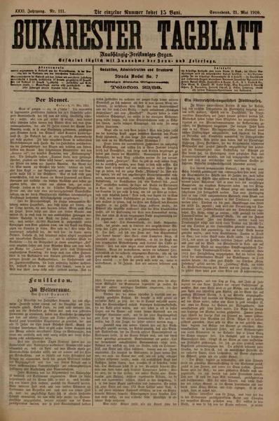 File:Bukarester Tagblatt 1910-05-21, nr. 111.pdf