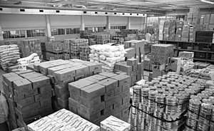 Food storage container - Warehouse storing many kinds of food