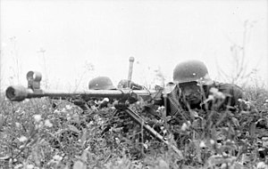 Panzerbüchse 39 - Dug in soldiers with the Panzerbüchse 39 deployed on the Eastern Front.