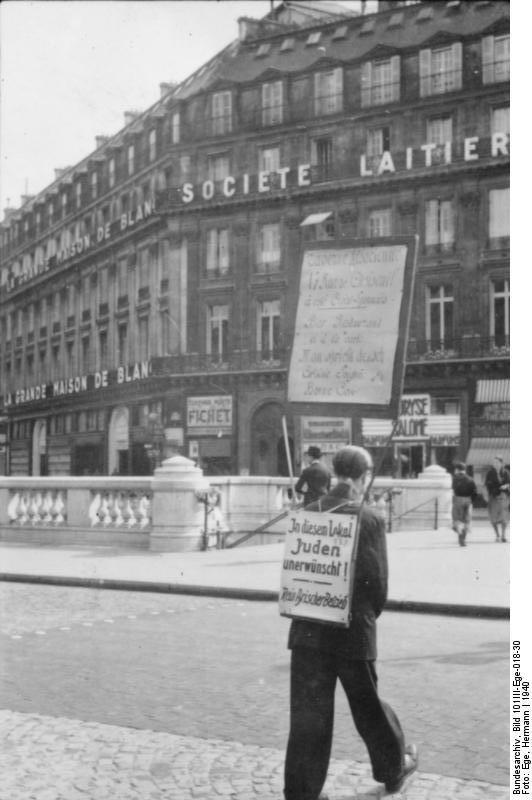 Bundesarchiv Bild 101III-Ege-018-30, Paris, Diskriminierung von Juden