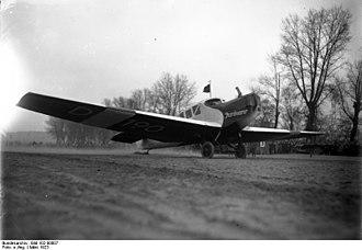 Airline - Junkers F.13 D-190 of Junkers Luftverkehr