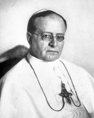 Cesare Orsenigo - Pope Pius XI, a friend of Orsenigo in Milan who appointed him to all three of his nunciatures