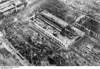 Bombing of Stalingrad - An industrial plant in Stalingrad on 16 November 1942, destroyed by Stukas.