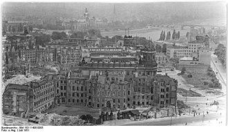 Landhaus (Dresden) - Landhaus in August 1951.