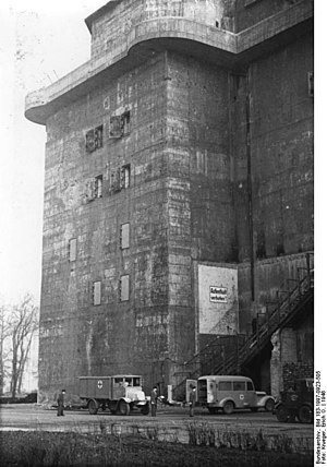 Zoo flak tower - The Zoo tower in 1946