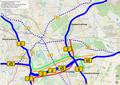 Bundesstrassen 3, 6, 65 und Schnellwege in Hannover, Deutschland.xcf