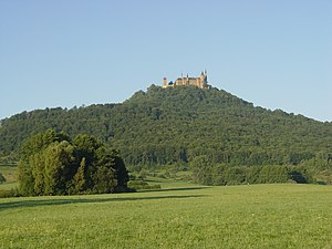 Hohenzollern (mountain) - View from north
