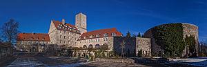 Feuerstein Castle - Image: Burg Feuerstein Panorama 01