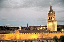 The cathedral and the city walls.