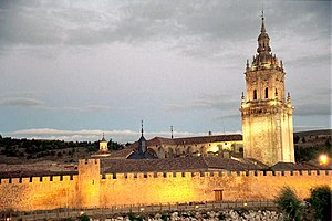 Burgo de Osma-Ciudad de Osma - The cathedral and the city walls.