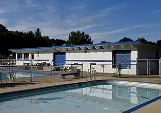 National Register of Historic Places listings in Racine County, Wisconsin - Image: Burlington Community Swimming Pool and Bathhouse