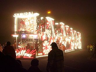 """West Country Carnival - """"Samurai"""" by Griffens CC, Burnham on Sea Carnival 2006"""