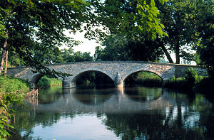 Burnside's Bridge in Washington County, site of heavy combat during the Battle of Antietam