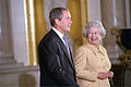 Bush and Elizabeth II, Buckingham Palace, 2001.jpg
