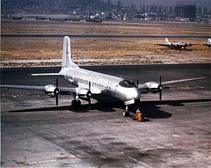 Douglas C-74 Globemaster - C-74 Globemaster at Long Beach, California.