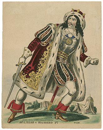 History (theatrical genre) - Charles Kean as Richard III