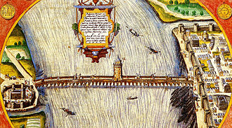 History of the Jews in Cologne - Emperor Constantine connects Cologne and Deutz with the first stable bridge