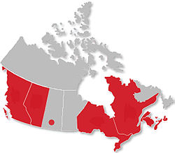 Canadian Collegiate Athletic Association locations