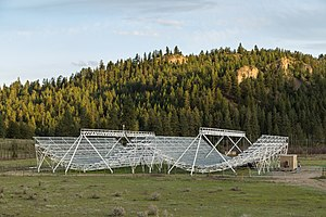 Canadian Hydrogen Intensity Mapping Experiment - The CHIME Pathfinder telescope, a prototype for the full CHIME telescope.
