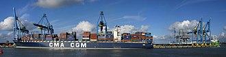 Port of Zeebrugge - Image: CMA CGM Bizet