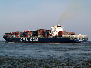 CMA CGM Nabucco p3, leaving Port of Rotterdam, Holland 12-Mar-2006.jpg