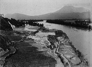 Tarutung - A flood of Silindoeng (Silindung Valley) plain at Taroetoeng (1917)