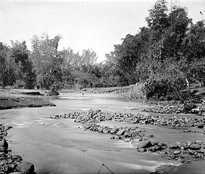 Brantas River - Brantas River in the area of Surabaya, early 20th century