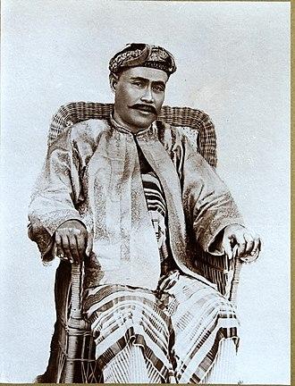 Kelantan Sultanate - Sultan Muhammad IV ibni Sultan Muhammad III, circa 1909-1910.