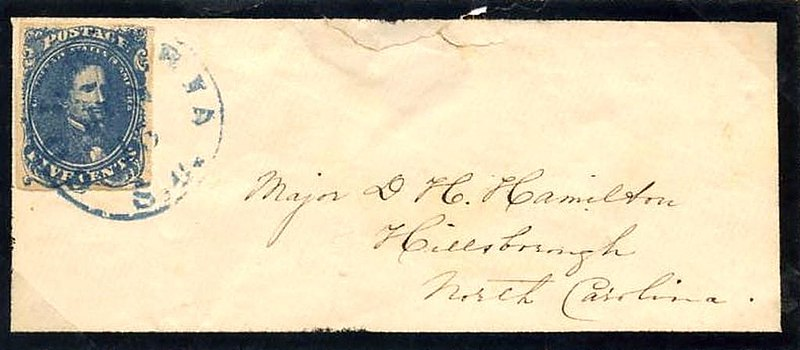 httpwww foxbororeporter delivery mail common 1890s confederate mourning cover stamp