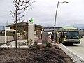 CTtransit route 101 bus at Flatbush Avenue CTfastrak station, December 2015.JPG
